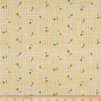 Northcott Sew Sweet Tossed Floral Yellow
