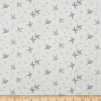 Northcott Sew Sweet Birds Light Gray