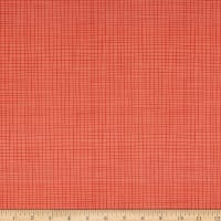 Northcott Sew Sweet Plain Check Coral