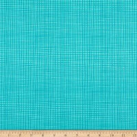 Northcott Sew Sweet Plain Check Turquoise