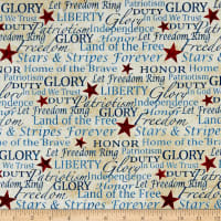 Stonehenge Stars and Stripes I - VI Cream