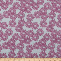 In The Beginning Fabrics Doodle Blossoms Daisies Lavender