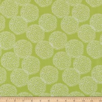 In The Beginning Fabrics Doodle Blossoms Chrysanthermums Lime