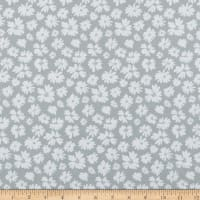 In The Beginning Fabrics Doodle Blossoms Wildflowers Light Grey