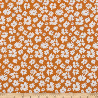 In The Beginning Fabrics Doodle Blossoms Wildflowers Orange