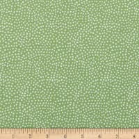 In The Beginning Fabrics Doodle Blossoms Small Dots Green
