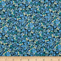 In The Beginning Fabrics Garden Delights Impatiens Blue