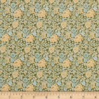In The Beginning Fabrics Garden Delights Dotted Flowers Gold