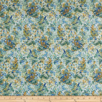 In The Beginning Fabrics Garden Delights Impressionist Blue