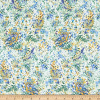In The Beginning Fabrics Garden Delights Impressionist Periwinkle