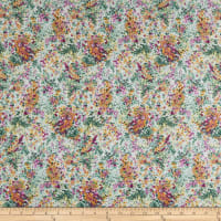 In The Beginning Fabrics Garden Delights Impressionist Pink/Navy