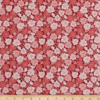 In The Beginning Fabrics Garden Delights Carnation Pink/Red