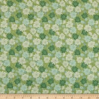 In The Beginning Fabrics Garden Delights Carnation Green