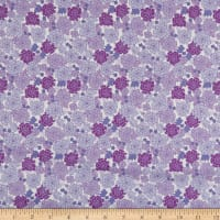 In The Beginning Fabrics Garden Delights Carnation Purple/White