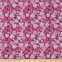 In The Beginning Fabrics Garden Delights Carnation Pink/Maroon