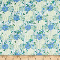 In The Beginning Fabrics Garden Delights Hexagons Blue