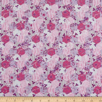 In The Beginning Fabrics Garden Delights Hexagons Pink