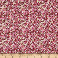 In The Beginning Fabrics Garden Delights II Morning Glory Burgundy