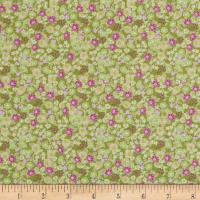 In The Beginning Fabrics Garden Delights II Morning Glory Green