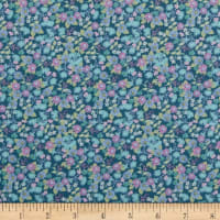 In The Beginning Fabrics Garden Delights II Morning Glory Teal