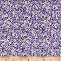 In The Beginning Fabrics Garden Delights II Morning Glory Plum