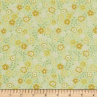 In The Beginning Fabrics Garden Delights II Garden Blooms Gold