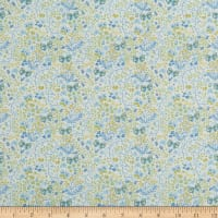 In The Beginning Fabrics Garden Delights II Butterflies Blue