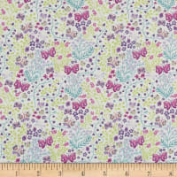 In The Beginning Fabrics Garden Delights II Butterflies Purple