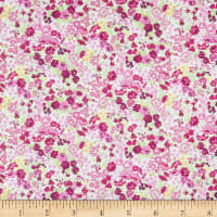 In The Beginning Fabrics Garden Delights II Roses Magenta
