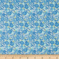 In The Beginning Fabrics Garden Delights II Blossoms Teal