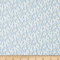In The Beginning Fabrics Garden Delights II Vines Light Blue