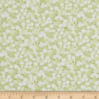In The Beginning Fabrics Garden Delights II Puffs Green