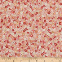 In The Beginning Fabrics Garden Delights II Posies Coral