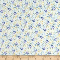 In The Beginning Fabrics Garden Delights II Iris Purple