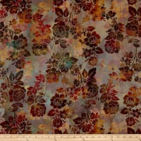 In The Beginning Fabrics Diaphanous By Jason Yenter Night Bloom Mulberry