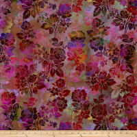 In The Beginning Fabrics Diaphanous By Jason Yenter Night Bloom Magenta