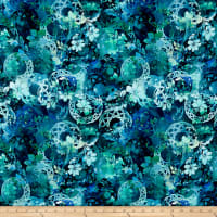 In The Beginning Fabrics Diaphanous By Jason Yenter Celtic Garden Ocean