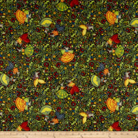 In The Beginning Fabrics Hey Diddle Diddle Dancing Mice Digital Print Multi