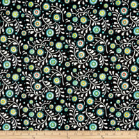 In The Beginning Fabrics Hey Diddle Diddle Flowers & Vines Digital Print Multi