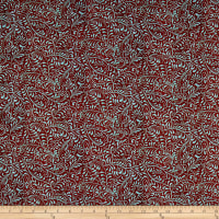 In The Beginning Fabrics Hey Diddle Diddle Vines Digital Print Red/Turquoise