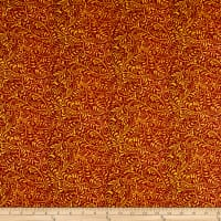 In The Beginning Fabrics Hey Diddle Diddle Vines Digital Print Paprika