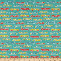 In The Beginning Fabrics Teddy's Great Adventures! Teddy At The Races Multi