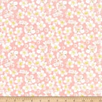 In The Beginning Fabrics Believe Small Floral Coral