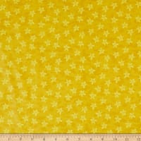 In The Beginning Fabrics Happy Birthday Stars Digital Print Yellow