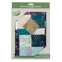 Maywood Studio Pods Coastal Chic Batiks Sister's Choice Table Runner Pod Kit Multi