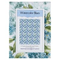 Maywood Studio Watercolor Hydrangeas Watercolor Blues Quilt Kit Multi