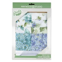 Maywood Studio Watercolor Hydrangeas Pod Four Square Quilt Kit Multi
