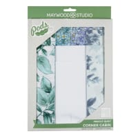 Maywood Studio Watercolor Hydrangeas Pod Corner Cabin Quilt Kit Multi