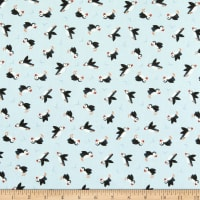 Lewis & Irene Small Things By The Sea Puffins Light Grey