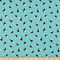 Lewis & Irene Small Things By The Sea Puffins Blue
